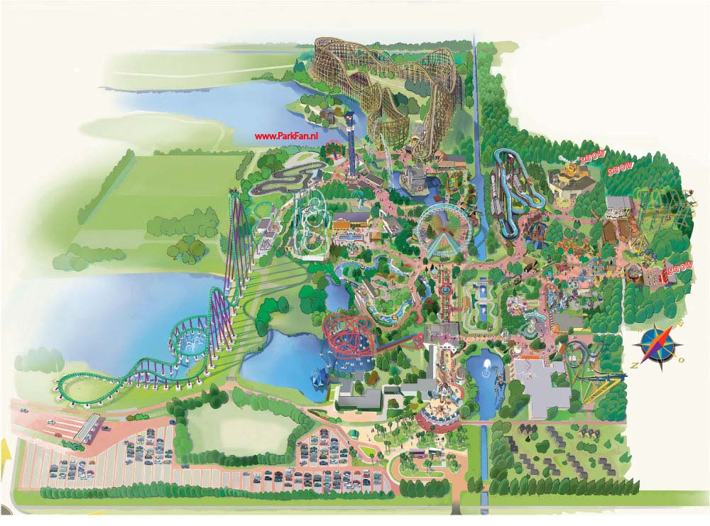 Walibi World Plattegrond 2006